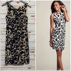 Ann Taylor Cheetah Print sleeveless Sheath Dress